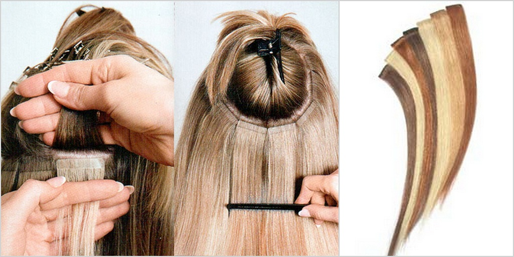 Ленточное наращивание волос hairs